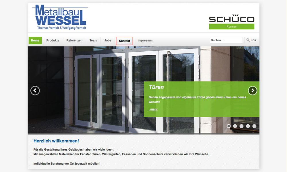 Metallbau Wessel Website